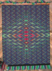 Navajo Rug, Germantown Eye Dazzler, J. Tsinnie