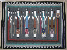Navajo Rug, Yei Pictorial, S. Churchielles