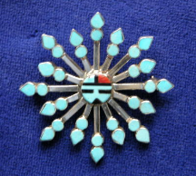 Pendant/Pin Zuni Point Cluster