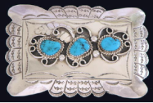 Buckle, Turquoise and Leaf