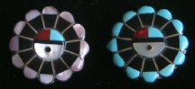Pendant/Pin Zuni Sun Face Inlay