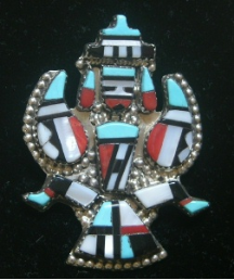 Pendant/Pin Zuni Knifewing Inlay