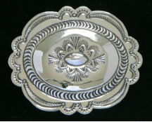 Sterling Silver Concho Buckle, similar to KBN007-A but larger