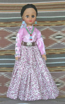 Nastas - Navajo Doll in traditional clothing by Sarah Joe