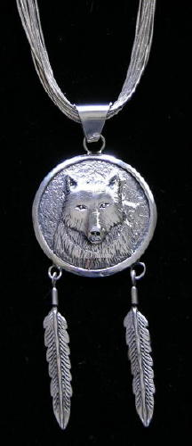 Navajo Wolf-face Pendant
