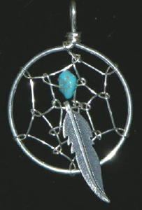 Navajo Dream Catcher Pendant S