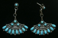 Earrings Zuni Needlepoint