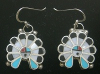 Earrings Zuni Sunface