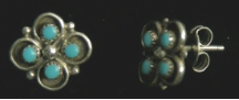 Earrings Zuni Flower