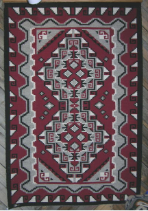 Navajo Rug, Ganado Red, Classic Design, B. Y. Ashley