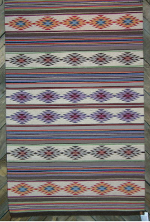 Navajo Rug, Wide Ruin Design, S. Tsinnie