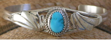 Sterling Silver Turquoise Bracelet