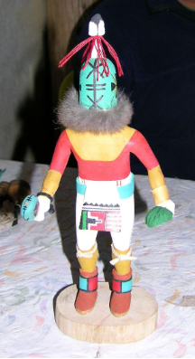Kachina, Rattle by Gibson Numkena