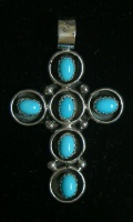 Cross, Turquoise Shadowbox Inlays