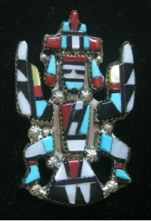 Pendant/Pin Zuni Kachina Inlay