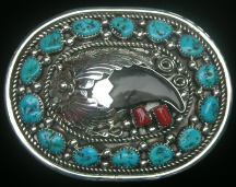 Bear Claw with Turquoise Buckle