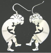 Navajo Kokopelli Earrings