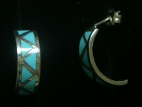 Navajo Inlay Earrings