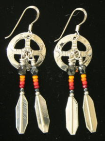 Navajo Medicine Wheel Earrings