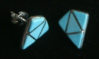 Navajo Arrow Inlay Earrings