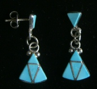 Navajo Arrow Shaped Earrings