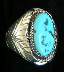 Men's Large Turquoise Ring