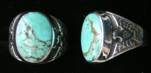 Thunderbird Turquoise Ring, Oval