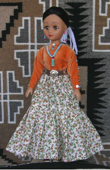 Nizhoni - Navajo Doll in traditional clothing by Sarah Joe
