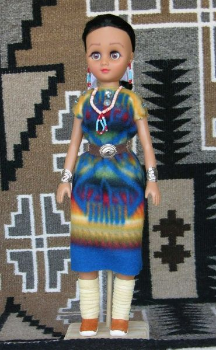 Yashi - Navajo Doll in traditional clothing by<br> Sarah Joe