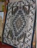 Navajo Rug, Two Grey Hills, Classic Design, V. Brown