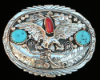 Buckle, Eagle and Turquoise