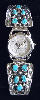 Indian Chief Watchface with Ladies Watch-Bracelet