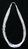 "20 Strand 18"" Liquid Silver Heishi Necklace"