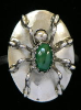 Malachite Spider Ladies Ring