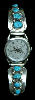 Ladies Watch with 8Turquoise Nugget Bracelet