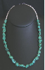 Turquoise with Silver Pearls Necklace