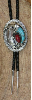 Bolo Tie, Turquoise & Coral Claw design