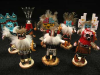 Lot size of 6 Colorful Authentic kachina Dolls !!